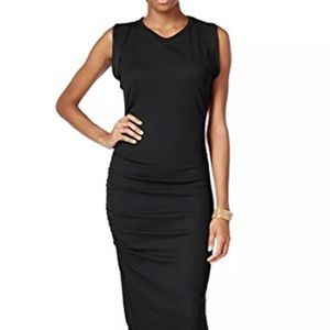 NWT Bar III Black Sheath midi Dress sz XS $99